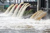 El agua contaminada con los desperdicios