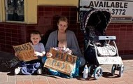 A Family Who Are Homeless.