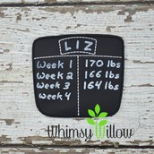Weight Loss Chalk Chart