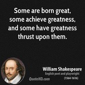 A quote from one of Shakespeare plays...