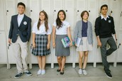 Middle school and high school uniforms: