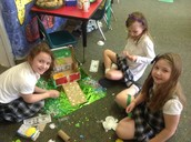Mia, Alex and Emma engineering a trap!