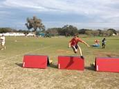 Evan Leaps Like A Champion!