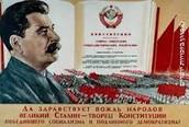 מסימני פולחן האישיות בברית המועצות, כרזה, 1933