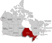 where is Ontario located?