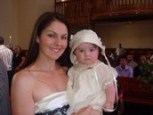 At my christening I was 7 months old.