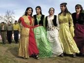 Kurdish Women in Traditional Dress