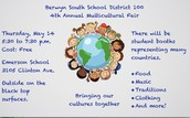 Multicultural Fair - Thursday May 14th