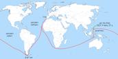 מפת המסע של פרדיננד מגלן