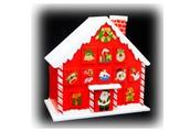 Christmas Candy Cane House Advent Calendar