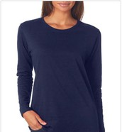 Missy Fit 100% Cotton Long-Sleeve T-Shirt