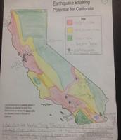 Earthquake Potential Zones in California