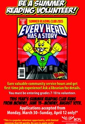 BCPL Summer Reading Club Volunteers Needed!
