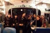 Donde te sentaste en el autobus?