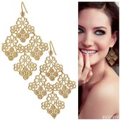 SOLD. Chantilly Lace Earrings