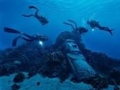 Moai are found underwater