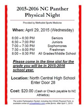 High School Physical Night