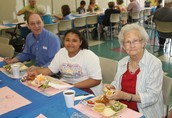 Sharing Lunch with Grandparents!