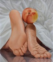 Lovely feet Painting with Nectarine