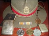 Authentic items from WW1