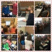 Mrs. Flowers and Mrs. Boynton's class collaborating