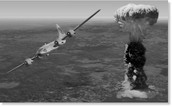 B-29 Bomber and Mushroom Cloud