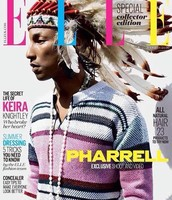 PHARRELL ON THE COVER OF ELLE UK'S JULY ISSUE