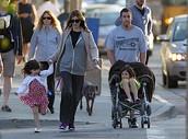 Adam Sandler and his kids