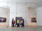 Third grade students enjoy art displays at the Nerman Contempory Art Museum at JCCC.