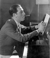 Gershwin writing notes for a song.