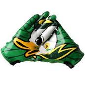Wearing College Team Gloves