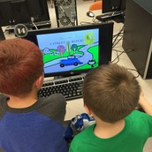 Students are learning how to add animations and transitions to presentations in computer class!