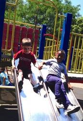 Lunch and Recess in Fort Greene Park