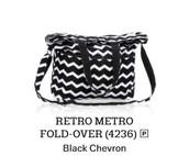 Retro Metro Fold-Over - Black Chevron