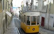 De tram in Lissabon