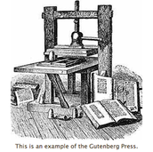 The printing press Gutenberg designed.