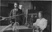 Pierre Curie (left) and Marie Curie (right)