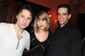 Nick Cordero pictured with Zach Braff and Taylor Swift 2014