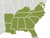 Southeast Region States,Major Cities