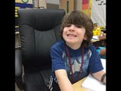 1st student to sit in the Principal's Chair