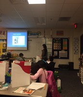 Reviewing math stratgies in Gibson's 3rd grade class
