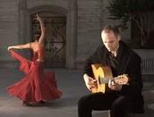 Flamenco Dancer and a Guitarist