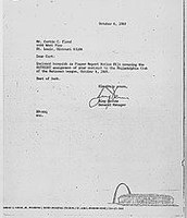Letter Informing of Trade