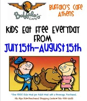 Kids Eat Free Everyday 7/15-8/15