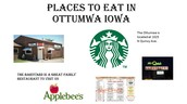 Places to eat in Ottumwa, Iowa