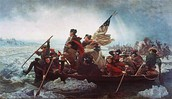 Washington and his men crossing the Delaware River