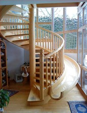 yes, a spiral staircase