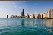 Illinois skyline from Lake Michigan