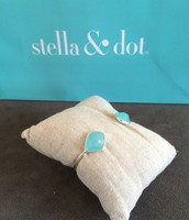 SOLD Serenity Stone Cuff Aqua - $20