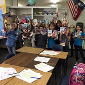 4th grade with their books